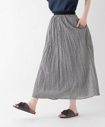 studio CLIP(スタディオクリップ)のコットンクリンクルアソートマキシスカート(スカート)