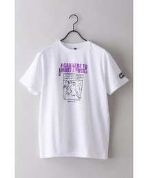 【OUTDOOR PRODUCTS】FM802コラボ Tシャツ 2 フロントプリント バックプリント 両面プリントホワイト