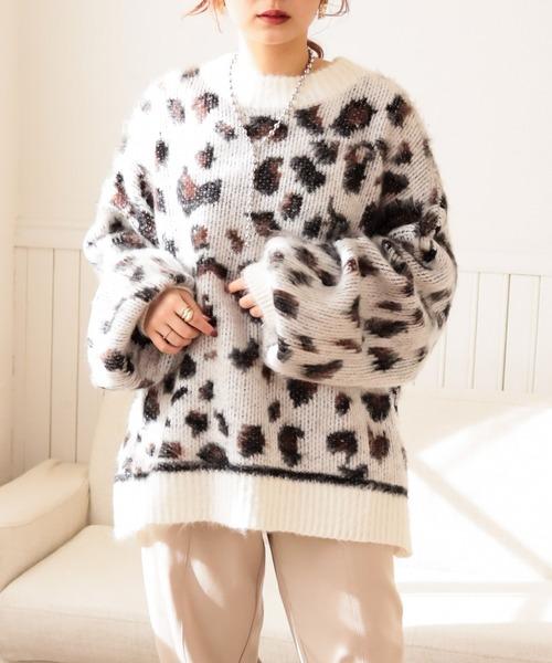 big leopard knit