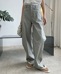 【chuclla】【2021/SS】Cocoon silhouette pants chw1557グレー