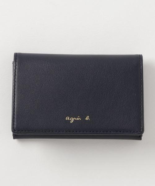agnes b.(アニエスベー)の「AW11C-08 カードケース(カードケース)」|ネイビー