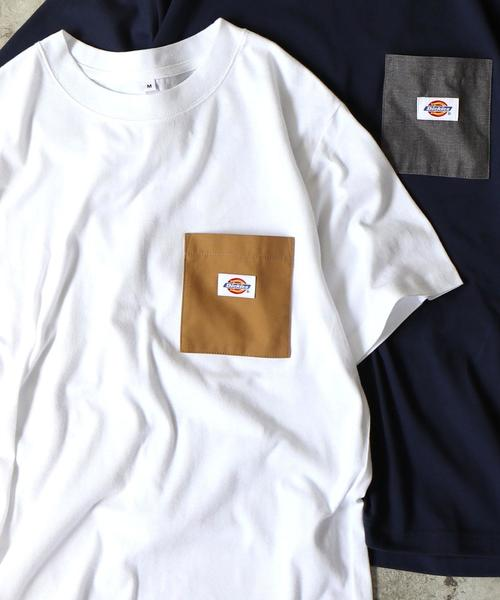 【女性にも人気】Dickies(ディッキーズ)別注ポケットTシャツ19SS(一部WEB限定カラー)