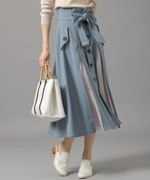 Andemiu(アンデミュウ)のトレンチXプリーツスカート831335(スカート)