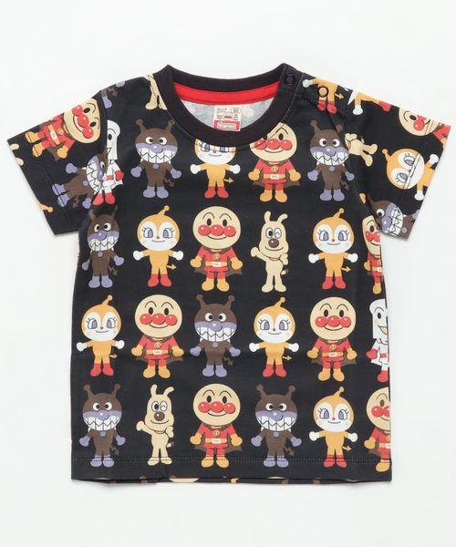 ANPANMAN KIDS COLLECTION(アンパンマンキッズコレクション)の「【アンパンマン】アート総柄Tシャツ(Tシャツ/カットソー)」|ブラック