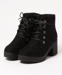 Mafmof(マフモフ)のMafmof(マフモフ) BLACKレースアップショートブーツ(ブーツ)
