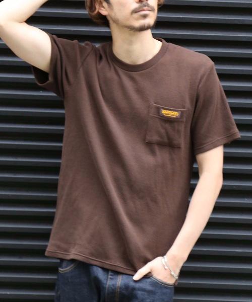 ワッフルワッペンTシャツ ワンポイント