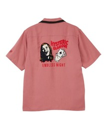 ENDLESS NIGHT刺繍 ボーリングシャツピンク