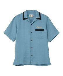 ENDLESS NIGHT刺繍 ボーリングシャツブルー