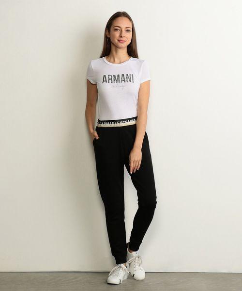 【A|Xアルマーニ エクスチェンジ】グリッターロゴ Tシャツ