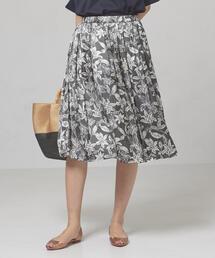 <closet story>□シャドーフラワー ギャザースカート -手洗い可能-