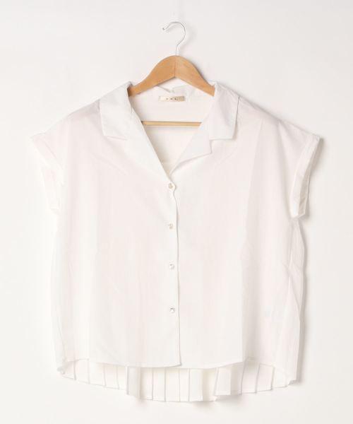 バックプリーツ半袖シャツ