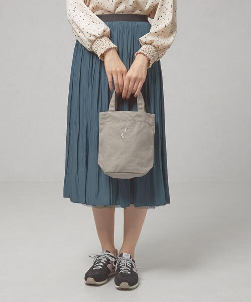 <closet story(クローゼットストーリー)>キャンバス イニシャル トートバッグ