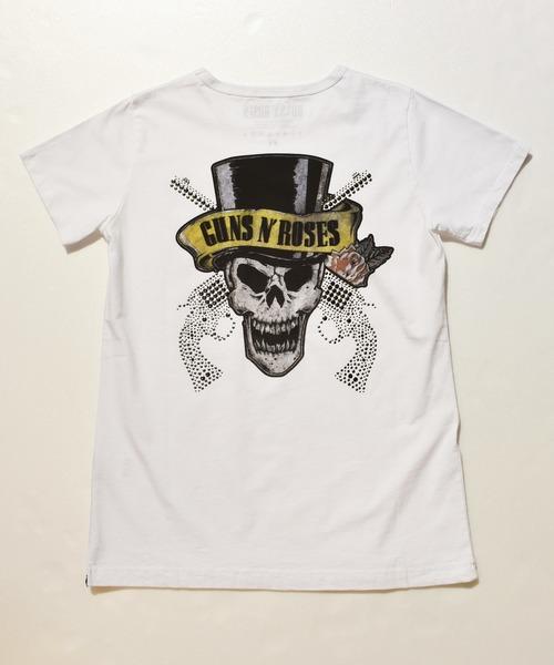"""【お買得】 roar×GUNS N'ROSES """"SILK HAT SKULL""""Tシャツ, くすり屋本店 8498a15f"""