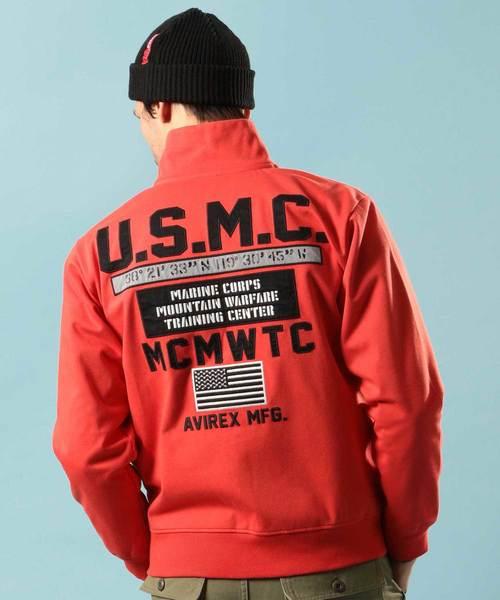 最新デザインの ウインドガード スタンドジップシャツ U.S.M.C/WIND ミリタリー GUARD ZIP U.S.M.C.【Avirex ZIP SHIRT U.S.M.C.【Avirex Military Camp】(スウェット)|AVIREX(アヴィレックス)のファッション通販, 激安店舗:a2ab2662 --- fahrservice-fischer.de