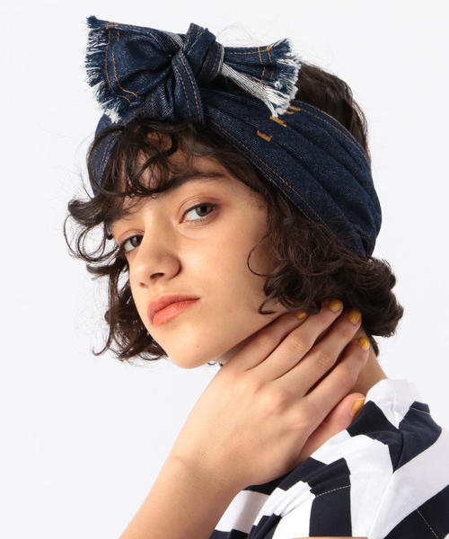 Lola Hats コットンデニム ヘッドバンド