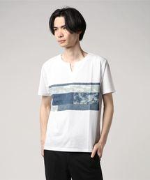 ZERO STAIN プリント切替Tシャツ 汗ジミが目立たない機能 ユニセックスその他1