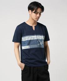 ZERO STAIN プリント切替Tシャツ 汗ジミが目立たない機能 ユニセックスその他4