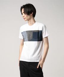 ZERO STAIN プリント切替Tシャツ 汗ジミが目立たない機能 ユニセックスホワイト系その他