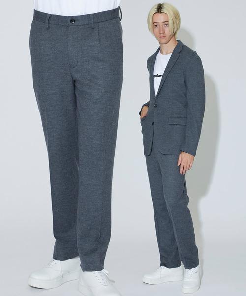 【MAIN ATTRACTION】JAPAN WOOL JERSEY スラックス パンツ