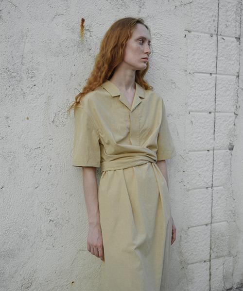 【LeonoraYang】Cross ribbon dress chw1560