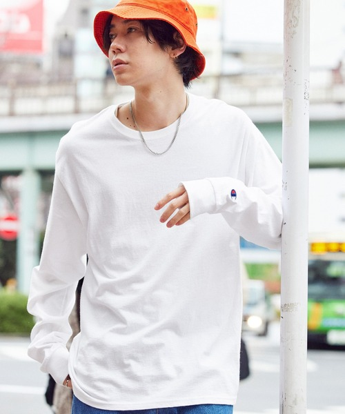Champion Authentic T-SHIRTS/ チャンピオン コットン Tシャツ Long Sleeve T