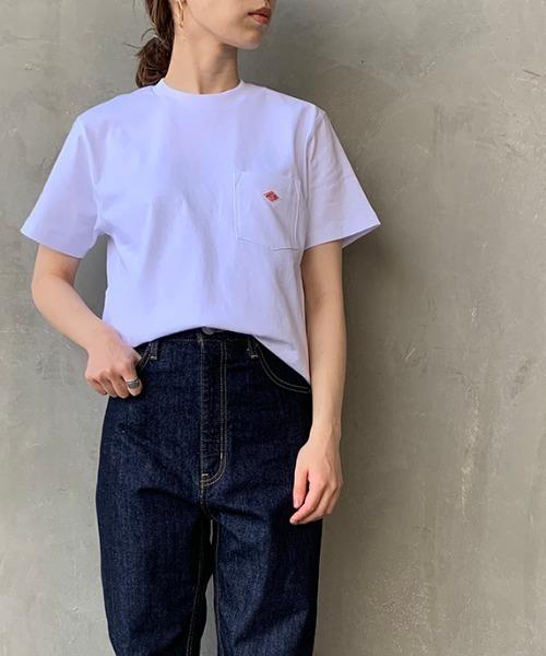Danton(ダントン)の「[DANTON/ダントン] クルーネックポケットTシャツ(Tシャツ/カットソー)」 ホワイト