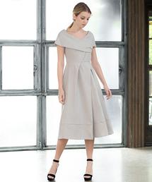 b194008327e3b ドレス・ワンピース(ドレス・ワンピース)の「ボートネックミモレ丈フレア結婚