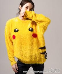 glamb / グラム ポケモン Pikachu knit ピカチュウニット GB0119/PK15 ポケットモンスター(ニット/セーター)