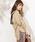 natural couture(ナチュラルクチュール)の「バックリボンミリタリーシャツブラウス(シャツ/ブラウス)」|ベージュ