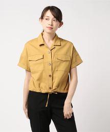 裾ドロスト半袖シャツライトイエロー