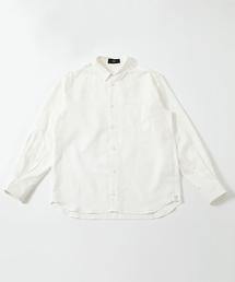 AZUL BY MOUSSY(アズールバイマウジー)のCOTTON LINEN BIG SHIRT / コットンリネンビックシャツ(シャツ/ブラウス)