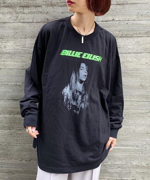 PAGEBOY(ページボーイ)の「BILLIE EILISH ロンT(Tシャツ/カットソー)」 ブラック