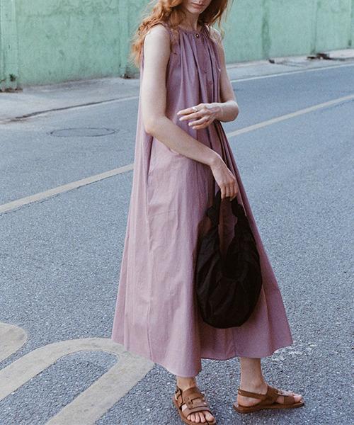 【LeonoraYang】Smock long dress chw1561