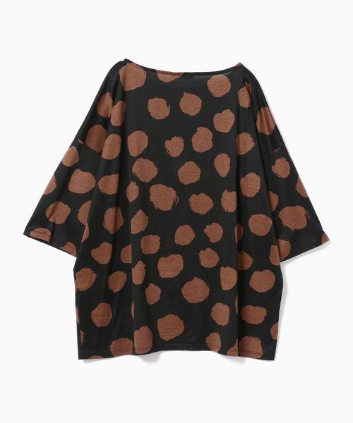 Jams / ドットプリント ハーフスリーブ Tシャツ <WOMEN>