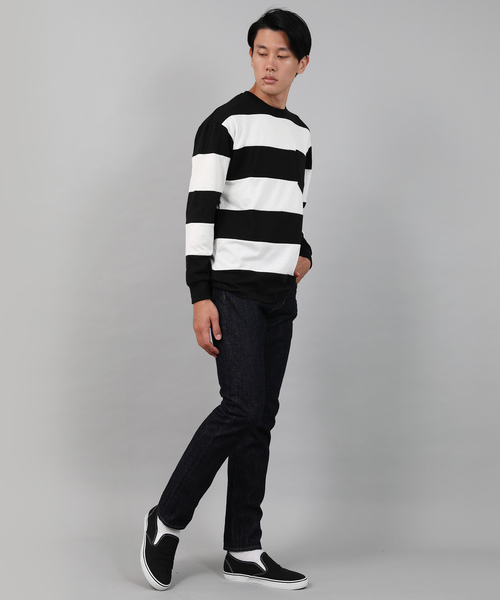 Wide Border Big Silhouette L/S Tee