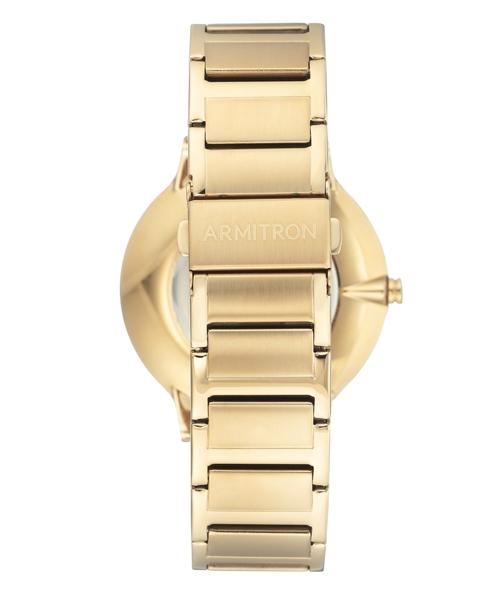 ARMITRON 腕時計 【本物のダイアモンド使用】 アナログ ブレスレットウォッチ ダイヤモンドインデックス