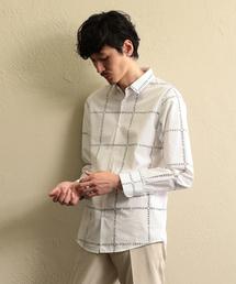 LOVELESS(ラブレス)の【LOVELESS】MEN ラブレスロゴチェックシャツ(シャツ/ブラウス)