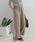 URBAN RESEARCH DOORS(アーバンリサーチドアーズ)の「リネンレーヨンワイドイージーパンツ(パンツ)」 ライトグレー