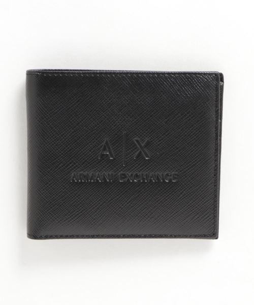 【A|Xアルマーニ エクスチェンジ】A|Xエンボスロゴ 二つ折り財布