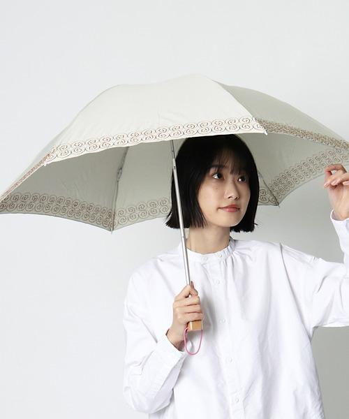∴【 korko / コルコ 】 晴雨兼用刺繍日傘 折りたたみ傘 刺繍 KOR-50EPM OGW ・・  アンブレラ