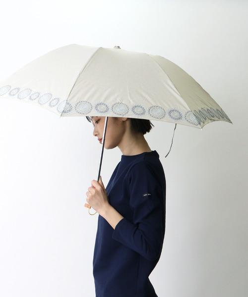 【 korko / コルコ 】 晴雨兼用刺繍日傘 折りたたみ傘 刺繍 KOR-50EPM OGW ·