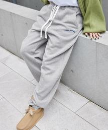 Mark Gonzales/マークゴンザレス MONO-MART別注 アーチロゴ刺繍 裏起毛 バルーンスウェットパンツ杢グレー