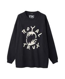 ROYAL TRUX/CATS AND DOGS オーバーサイズTシャツブラック