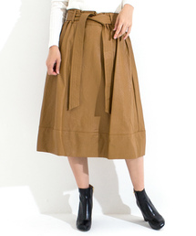 furryrate(ファーリーレート)のレザー切替ベルト付スカート (スカート)