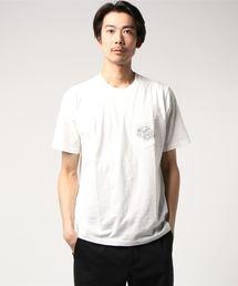 HYSTERIC GLAMOUR(ヒステリックグラマー)のHG-TROPIC FM プリント ポケ付Tシャツ(Tシャツ/カットソー)