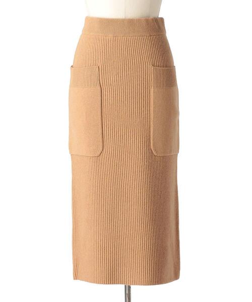 Drawer 9Gアゼ編みロングニットスカート