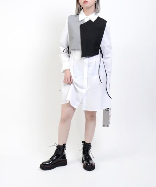 Narcissus(ナルシス)の「【cheap!!by vaNite】シャツベストOP(シャツ/ブラウス)」|ホワイト