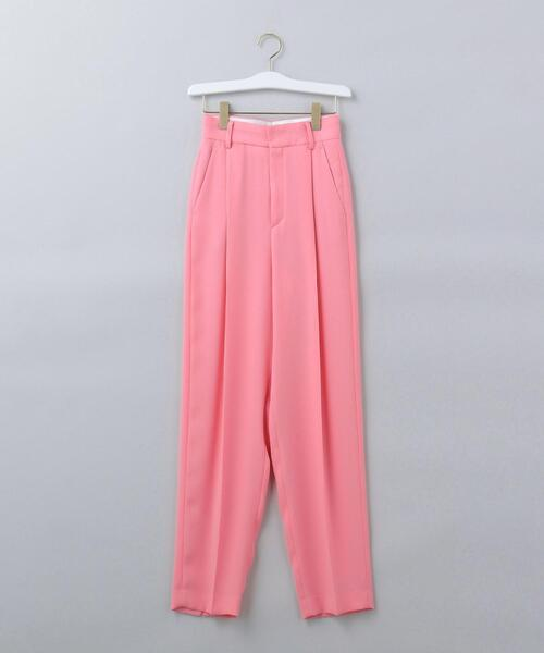 <6(ROKU)>GEORGETTE TUCK PANTS 2/パンツ