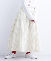 merlot(メルロー)のマルチストライプ柄フレアスカート1466(スカート)
