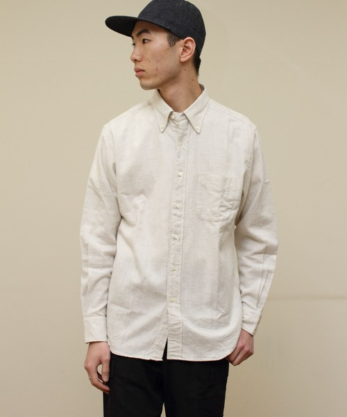THE BASICS/ザベーシックス トップネル ボタンダウンシャツ TOP NEL B.D.